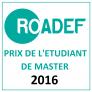 Prix étudiant de master de la ROADEF